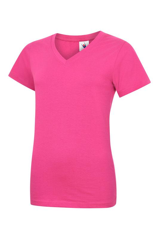 lb319 t-shirt femme col v