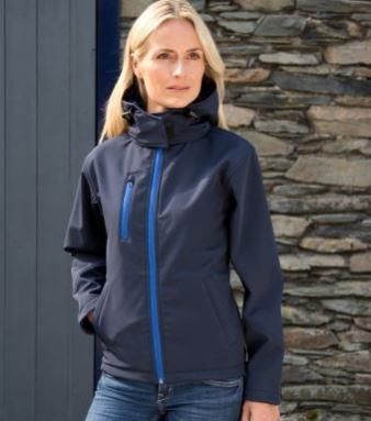 rs230f veste softshell à capuche femme