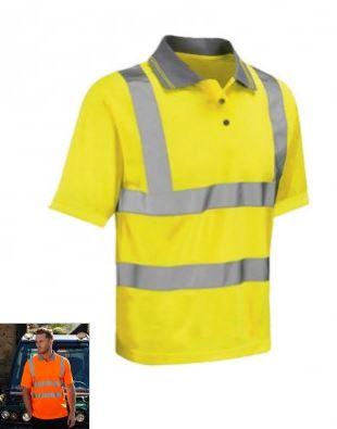 polo haute visibilite jaune
