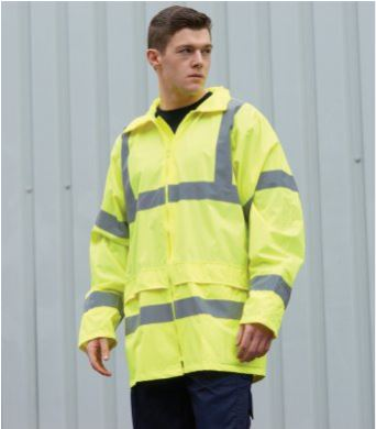 PW011 veste impermeable haute visibilite