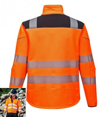 pw1011 veste softshell haute visibilité