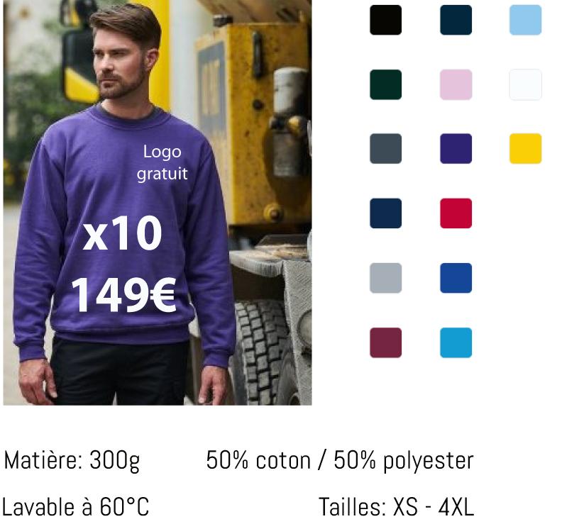 10 pulls brodés pour 149€